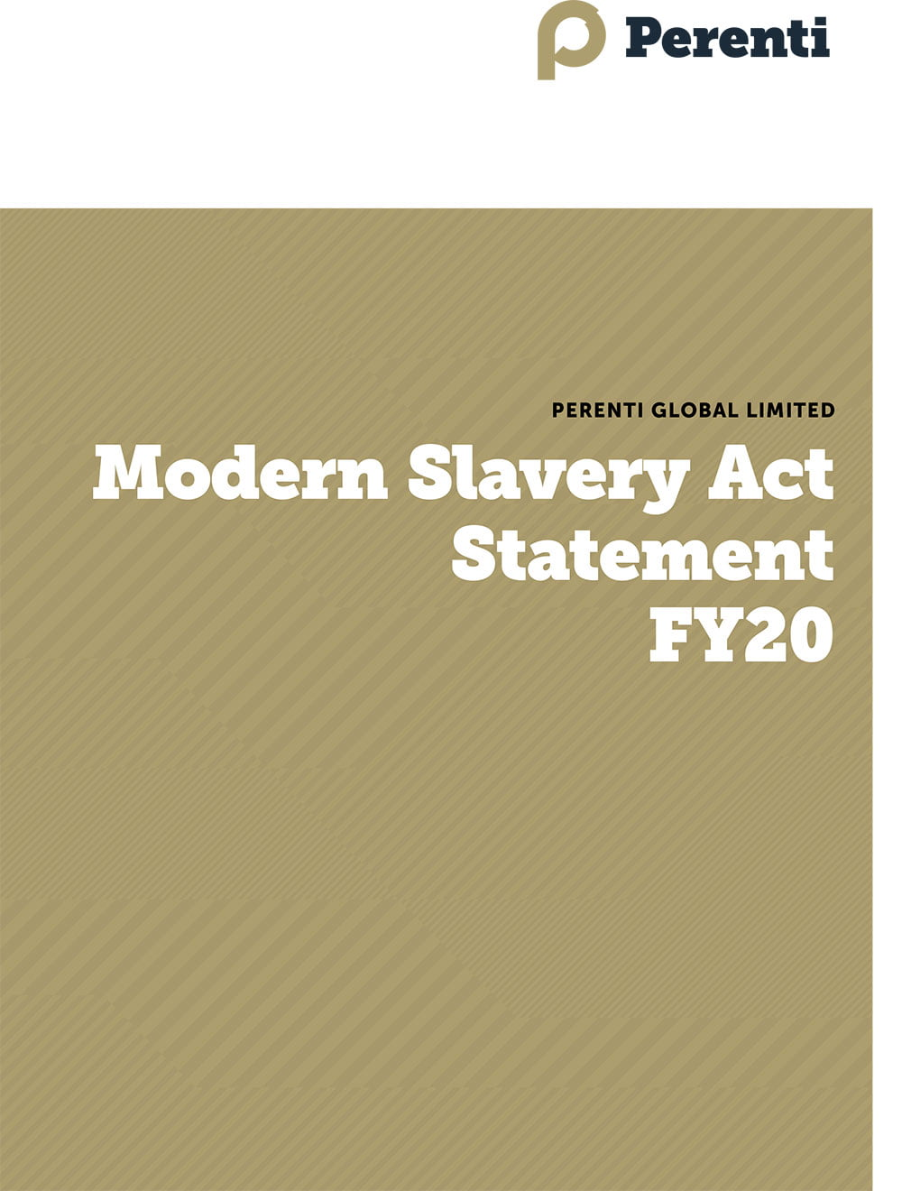 Human Rights • PER FY20 Modern Slavery Act Statement final 1